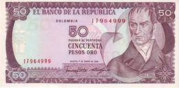 COLOMBIA 50 PESOS 1986 P-425b UNC [CO425b] - Colombia