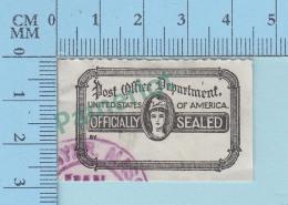Vignette Cinderella - Officially Sealed United State Of America - Pas De Gomme, Vintage Ancien  - 2 Scans - Erinnophilie