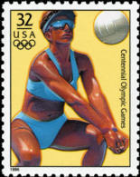 Sc#3068k 1996 USA Olympic Games Stamp-Beach Volleyball Athletic - Summer 1996: Atlanta
