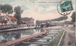 MOU-  CAMBRAI  DANS LE NORD  LE PONT D'ERRE  CPA  CIRCULEE - Cambrai
