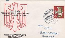 """Brief/Englisch """"Kiellegung Erstes  Deutsches Atomschiff"""" HDW Kiel 17.09.1963 - Keel Laying Of First German Nuclear Ship - Covers & Documents"""