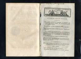 1929-bulletin Des Lois-ref-33958     1799-1800  N° 345 Divers   Etc..5  Pages   Document Original - Gesetze & Erlasse
