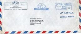 Enveloppe -  Expédiée  De  NEW YORK   ( U.S.A. )  à  Destination  De  Bagneres De Bigorre  ( 65 )    Par Avion         $ - Amérique Centrale