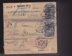 E6 /  Breslau Paketkarte 176 MeF - Memel 1922 - Covers