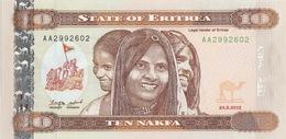 ERITREA 10 NAKFA 2012 (2014) P-NEW UNC [ ER111a ] - Erythrée