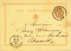 Entier Postal Lion Couché Cachet Double Cercle LIERRE 1875 Vers BXL  -- 21/152 - Entiers Postaux