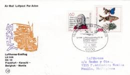 First Flight: 1981 Frankfurt - Karachi - Bangkok - Manila DC-10 Lufthansa (SKO9-63) - Autres (Air)