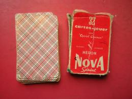 JEU / JEUX DE 32 CARTES A JOUER DOS SPECIAL CONCOURS GLACEES LAVABLES HERON NOVA SPRINT - 32 Cartes
