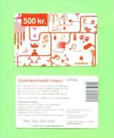 ICELAND - Remote Phonecard/Vodaphone 500 Kr.