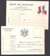 Lot De 2 Cartes F.M. - Marcofilia (sobres)