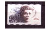 PRIX NOBEL PRIZE NOBELPREIS PAIX FREIDEN PEACE 1905 BERTHA VON SUTTER AUSTRIA MNH SWEDEN SUEDE SCHWEDEN 1986 MI 1413 - Premio Nobel