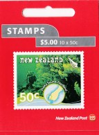 New Zealand 2008 Scenic: Underwater Reefs 50c Mint Booklet - - Booklets