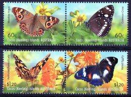 Cocos Islands 2012 Butterflies Set Of 4 MNH - - Cocos (Keeling) Islands