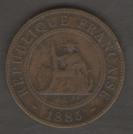 INDO CHINE FRANCAISE 1 CENT 1885 - Colonie