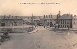 08-LE CHESNE- LA PLACE ET LE NOUVEAU PONT - Le Chesne