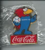 Pin COCA-COLA / Fußball-WM France 98 - Coca-Cola