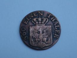 Allemagne Prusse   1  Pfennig 1821 A  FRIEDRICH   WILHELM III    KM# 405 Frappe Légerement Décentrée - [ 1] …-1871 : Etats Allemands