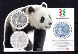 New Zealand 2011 China Exhibition Panda & Kiwi Minisheet MNH - New Zealand