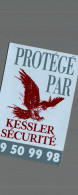 AUTOCOLLANTS  PROTEGEE PAR KESSLER SECURITE - Autocollants