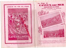 80 - LA PLAGE DE CAYEUX SUR MER - BRIGHTON LES PINS- DEPLIANT TOURISTIQUE- AFFICHE CHEMIN DU FER DU NORD-IMPRIMERIE EU - Dépliants Touristiques