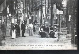 51, REIMS, CAFE RESTAURANT DU PONT DE MUIRE, FRANCOIS PROPRIETAIRE, VUE DANS LE PARC - Reims