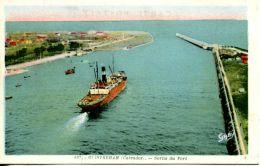 N°568E -cpa Ouistreham -sortie Du Port- - Commerce