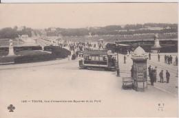 """37 Indre Et Loire  TOURS """"  Vue D'ensemble Des Squares Et Du Pont  Tramway Pub Maggi  """"  Précurseur MTIL   N°146 - Tours"""
