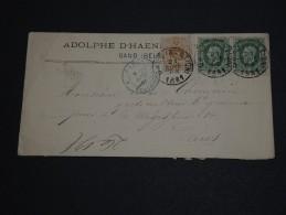 BELGIQUE - Enveloppe De Gand Pour Paris En 1881 , Affranchissement Plaisant - A Voir - L 590 - 1869-1883 Leopold II