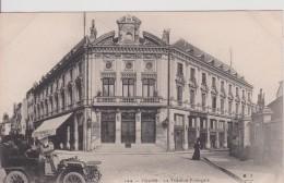"""37 Indre Et Loire  TOURS """"  Le Theatre Francais Femme Taxi Automobile  """"  Précurseur MTIL   N°144 - Tours"""