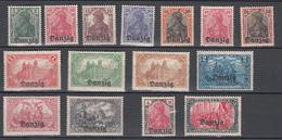 Danzig 1920,15V,compl Set,Mi 1-15,Freimarken Ovpt Danzig,MNH/Postfrisch(E4781ca) - Danzig