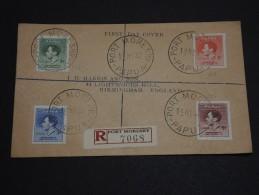 PAPOUASIE - NOUVELLE GUINÉE - Enveloppe En Recommandée De Port Moresby 1937, Affranchissement Plaisant - A Voir - L 591 - Papouasie-Nouvelle-Guinée