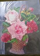 Grand Découpis - Panier De Roses - Fleurs