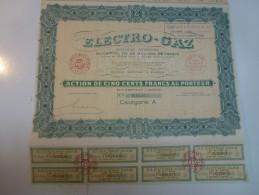 Action Electro Gaz - Electricité & Gaz