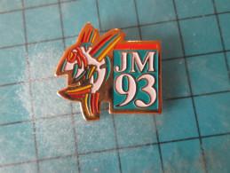 PIN116b Pin´s Pins /  SPORTS : JEUX MEDITERRANEENS LANGUEDOC-ROUSSILLON 1993 GYMNASTIQUE   INSCRIPTION AU DOS ,  Voir Ph - Ginnastica