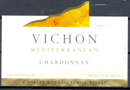 234 - Vin De Pays D'Oc - 1997 - Vichon Mediterranean - Chardonnay - A Robert Mondavi Family Wines - Vin De Pays D'Oc