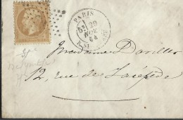 FRANCE - Oblitération étoile 2 De Paris Sur Enveloppe En 1864  - A Voir - L 600 - Marcophilie (Lettres)
