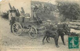 39 - JURA - Champagnole - Transport Du Lait Dans Les Montagnes - Attelage De Chiens - Lait - Défaut - Champagnole