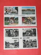 INDOCHINE  / TONKIN /  VIET NAM  /   1920  LOT DE 2 CPSM  SAIGON  HANOI  MULTI VUES GRUSS AUS    CIRC  OUI - Viêt-Nam