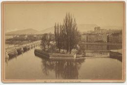 Geneve Et Le Mont Blanc Real Photo Sur Carton Photo Garcin 1875/1880 - GE Geneva