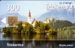 SLOVENIA SLOVENIJA  PHONECARD  2003 BLEJSKO  JEZERO  LAKES  TELEKOM CAT.NO. 499 - Slovenia