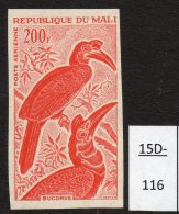 Mali 1965 200fr Oiseau Epreuve De Couleur, Bird Colour Trial / Proof In Deep Rose-Red. Mint