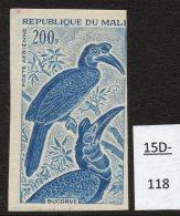 Mali 1965 200fr Oiseau Epreuve De Couleur, Bird Colour Trial / Proof In Deep Blue. Mint - Climbing Birds