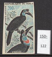 Mali 1965 200fr Oiseau Epreuve De Couleur, Bird Colour Trial / Proof In Black And Turquoise. Mint
