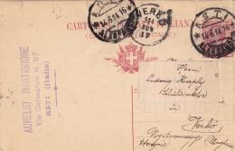 Postkarte Fil. C 36/13 Von Asti Nach Verbo/Ungarn (l088) - 1900-44 Vittorio Emanuele III