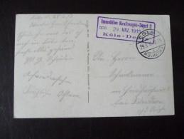 Köln Mit Schönem Landstempel ? Immobiles Kraftwagen-Depot 2  29. MRZ.  1915 Köln-Deutz - Koeln