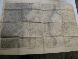 Guerre 14-18, Carte Etat-majorCOLMAR (avec Tracés)  ; Ref 425 CA 03 - Cartes Géographiques