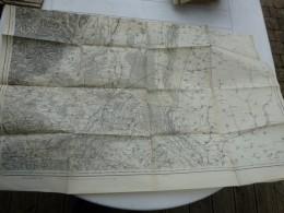 Guerre 14-18, Carte Etat-major MULHOUSE  (avec Tracés)  ; Ref 421 CA 03 - Landkarten