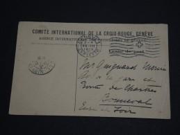 FRANCE - Carte En Franchise De La Croix Rouge De Genève Pour Bonneval En 1915 - A Voir - L 625 - Marcophilie (Lettres)
