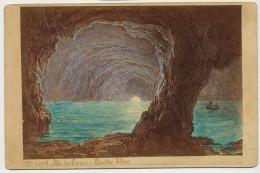Ile De Capri Grotte Bleue  Real Photo Sur Carton Colorisée  1880 - Altre Città