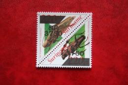 Surinam / Suriname 2002 Insect Insecten Overprint (ZBL 1165-1166 Mi -) POSTFRIS / MNH ** - Surinam